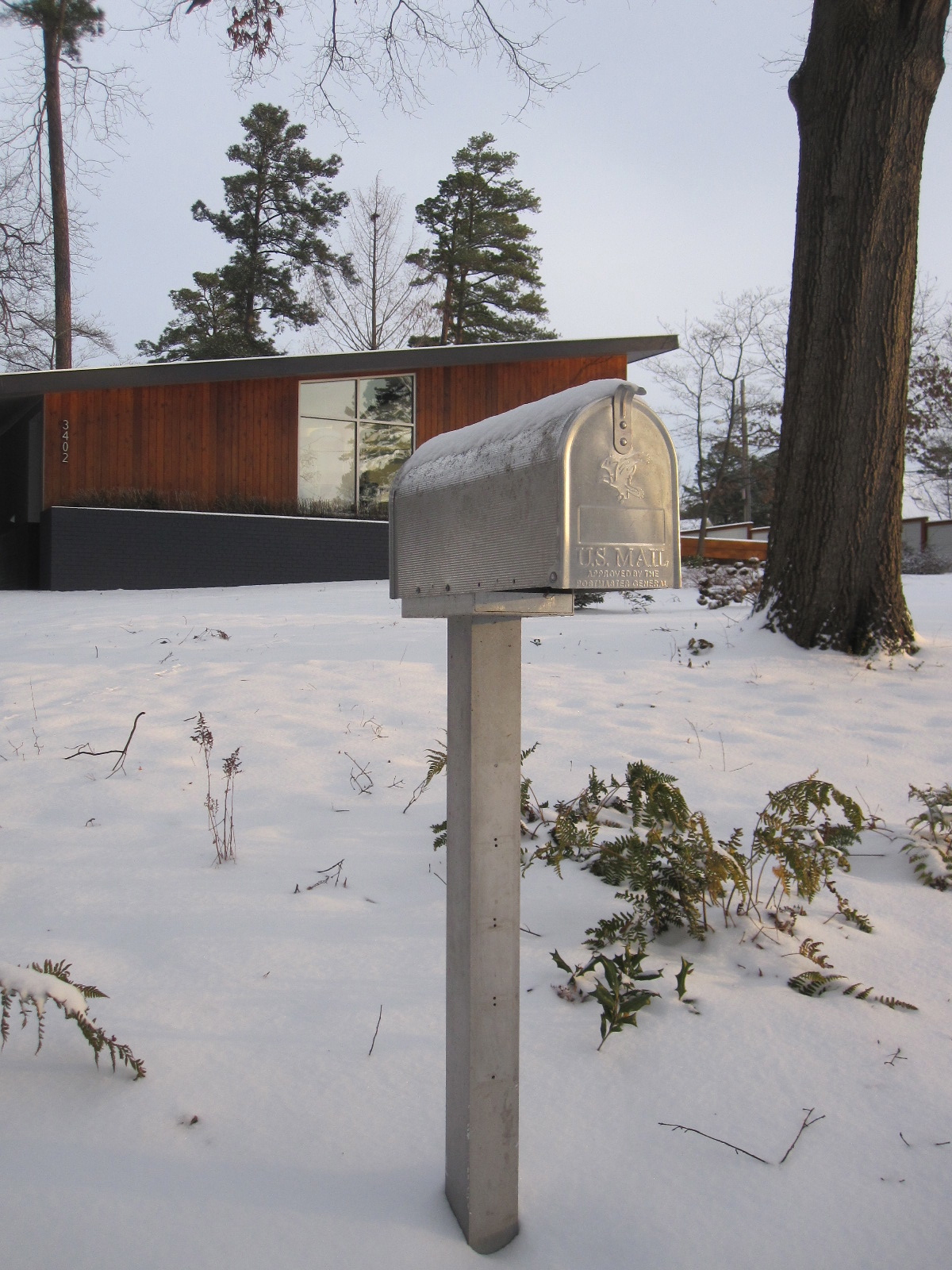 Midcentury Modern Mailbox Search Mailbox The Big Shrink Mailbox