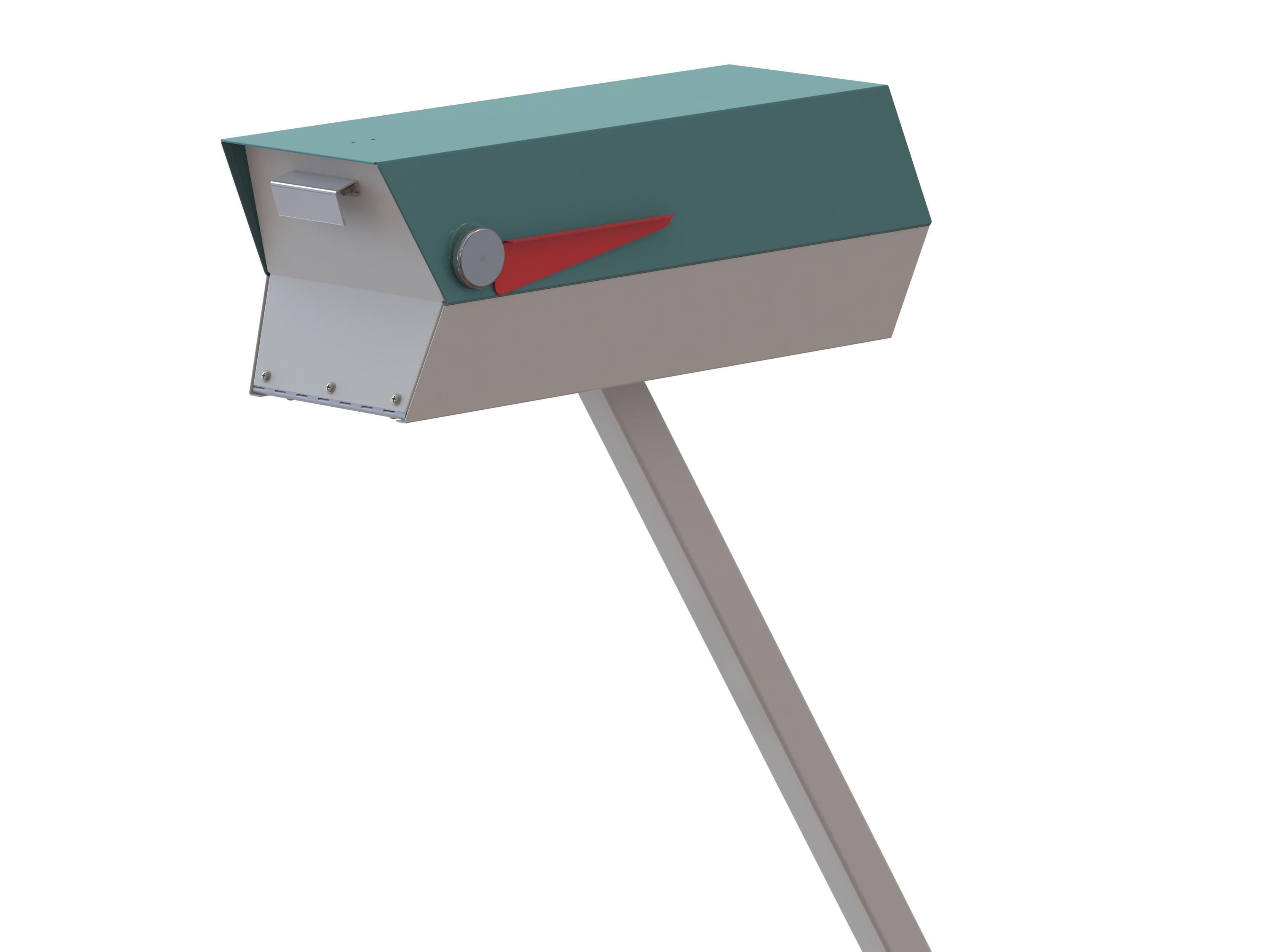 Modern mailbox mid century rendering modbox