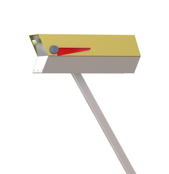 Mid-Century Modern Mailbox Rendering in Sunflower!