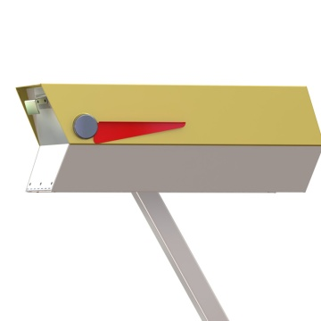Midcentury Modern Mailbox-Yellow Rendering-modbox