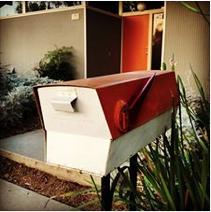vintage midcentury modern mailbox