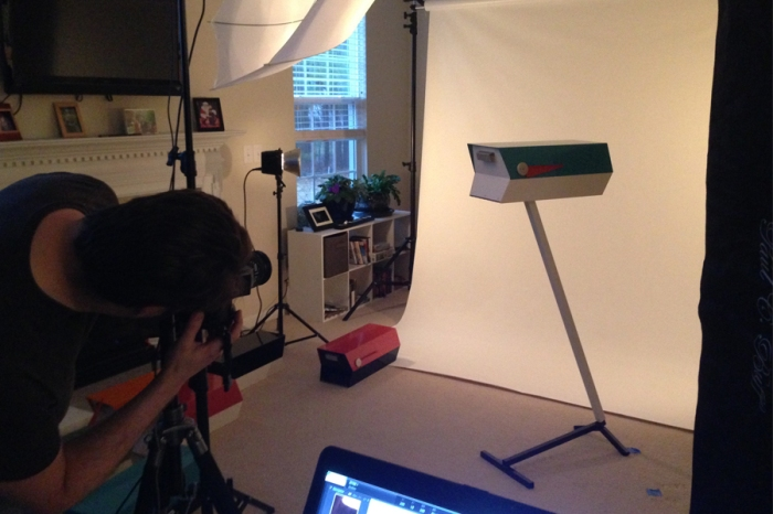 modbox product photo shoot